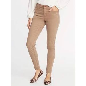 Old Navy Rockstar Mid Rise Khaki Jeans